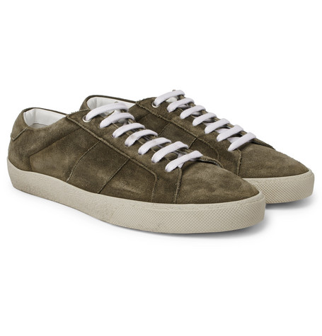 Sl/06 Court Classic Leather-trimmed Suede Sneakers Saint Laurent Cheap Footaction zncd3rMADb
