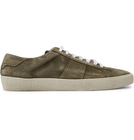 Sl/06 Court Classic Leather-trimmed Suede Sneakers - NavySaint Laurent sVUK8NG