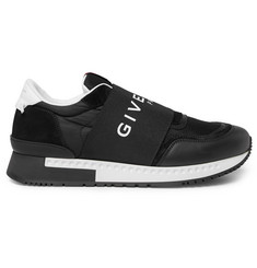 Givenchy Active leather, mesh and shell sneakers