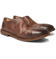 Marsell - Burnished-Leather Loafers