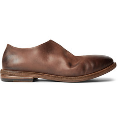 Marsell Burnished-Leather Loafers