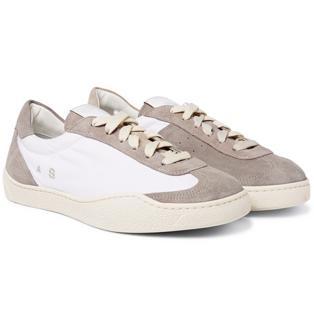 Acne Studios Lars Canvas And Suede Sneakers cheap visit new free shipping best sale big discount cheap price GsrmX