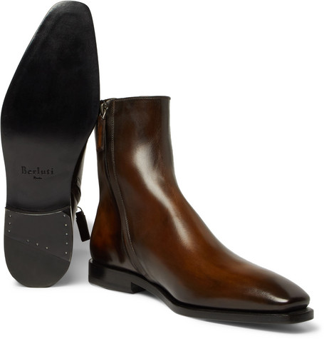 Leather Chelsea Boots - ChocolateBerluti lOavZRE