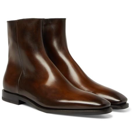 Berluti – Leather Chelsea Boots – Chocolate