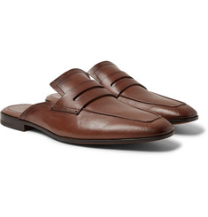 Berluti Lorenzo Leather Backless Loafers