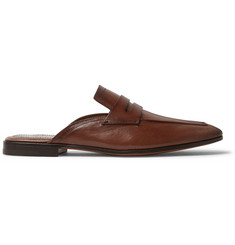 Berluti Luciano Leather Backless Penny Loafers