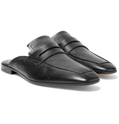 Berluti - Luciano Polished-Leather Backless Penny Loafers