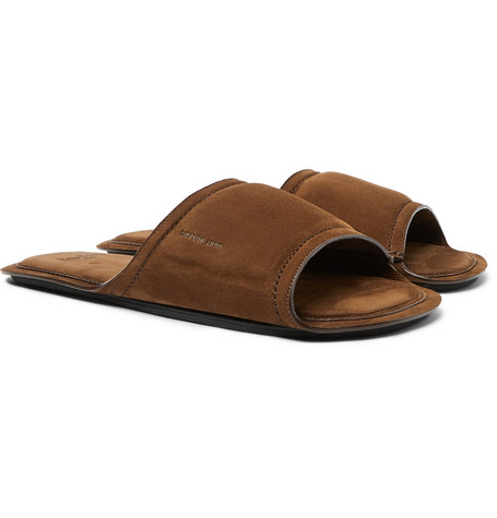 Epure Full-grain Nubuck Leather Slides