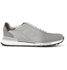 Berluti Fast Track Torino Suede and Leather Sneakers