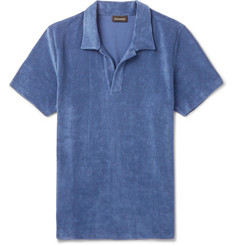 Ermenegildo Zegna Cotton-Blend Terry Polo Shirt