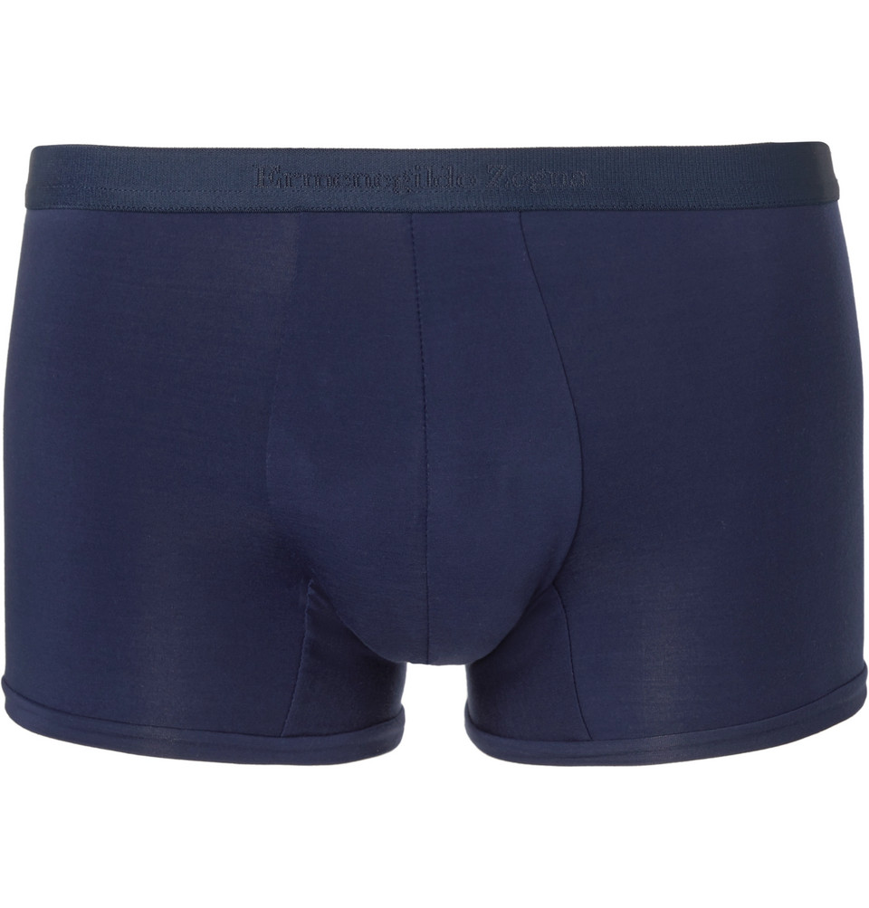 Stretch-jersey Boxer Briefs - Blue