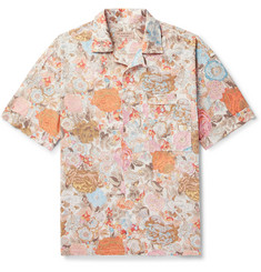 Burberry Camp-Collar Floral-Print Cotton Shirt