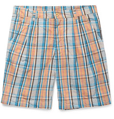 Arpenteur - Checked Cotton-Broadcloth Shorts