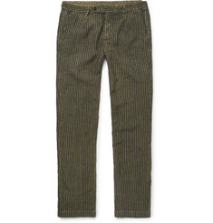 Massimo Alba Watercolour-Dyed Striped Linen Trousers
