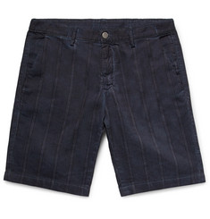 Massimo Alba Slim-Fit Striped Linen and Cotton-Blend Shorts