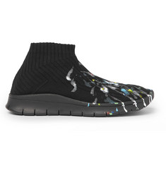 Maison Margiela Printed Stretch-Knit Sneakers