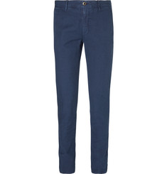 Incotex Slim-Fit Linen and Cotton-Blend Trousers