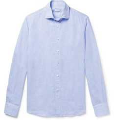 Incotex Slim-Fit Checked Linen Shirt