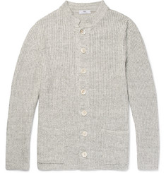 Inis Meáin Ribbed Linen Cardigan