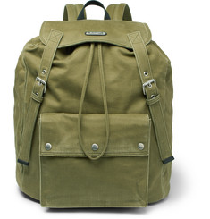 Saint Laurent Noe Washed-Canvas Backpack
