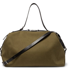 Saint Laurent Convertible Leather-Trimmed Canvas Holdall