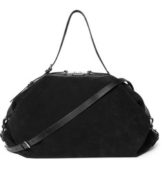 Saint Laurent - Leather-Trimmed Suede Holdall
