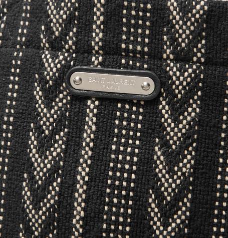Patterned Cotton Canvas Tote Bag by Saint Laurent