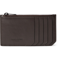 Saint Laurent Leather Zipped Cardholder
