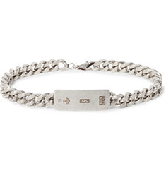 Saint Laurent - Oxidised Silver-Tone ID Bracelet