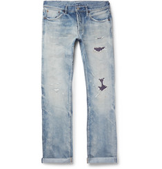 Fabric-Brand & Co - Distressed Selvedge Denim Jeans