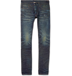 Fabric-Brand & Co Slim-Fit Distressed Selvedge Denim Jeans