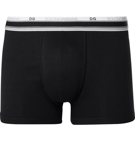 Ribbed Stretch-cotton Boxer Briefs Dolce & Gabbana Fast Delivery Classic Free Shipping Outlet Locations Genuine Sale Online Bzxp31XAeq