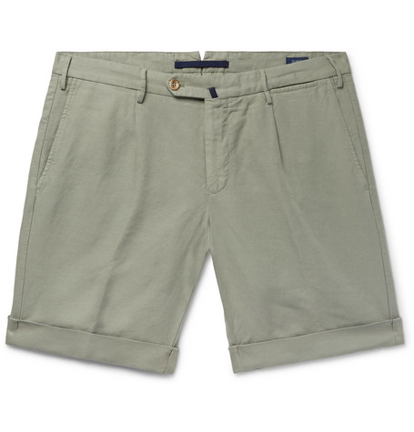Sale Best Slim-fit Linen And Cotton-blend Shorts Incotex Professional Online Latest Discount D9FSFB