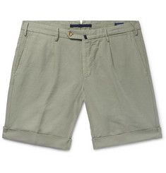 Incotex - Slim-Fit Garment-Dyed Linen and Cotton-Blend Shorts