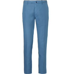 Incotex Slim-Fit Garment-Dyed Linen and Cotton-Blend Trousers