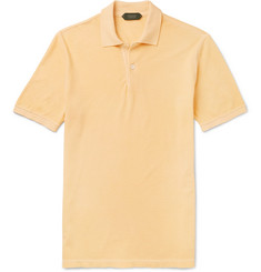 Incotex Slim-Fit Garment-Dyed Cotton-Piqué Polo Shirt