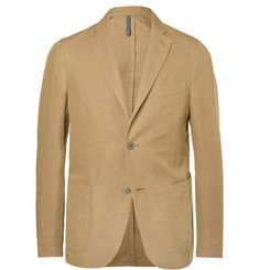 Incotex Beige Unstructured Linen and Cotton-Blend Blazer