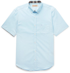 Burberry Button-Down Collar Stretch-Cotton Poplin Shirt