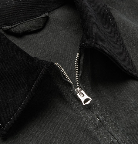 Marlon Corduroy Trimmed Garment Dyed Denim Jacket by Acne Studios