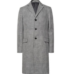 Acne Studios Mawin Prince of Wales Checked Linen-Blend Coat