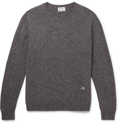 Acne Studios Nicol Embroidered Mélange Wool Sweater