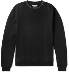 Acne Studios Oversized Printed Fleece-Back Cotton-Jersey Sweatshirt