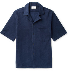 Acne Studios Jef Camp-Collar Cotton-Terry Shirt