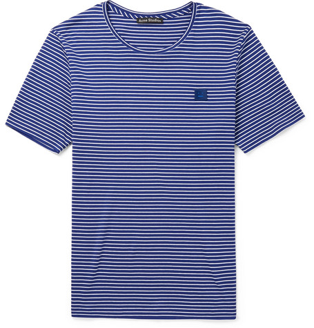 Nele Striped Cotton Jersey T Shirt by Acne Studios
