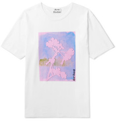 Acne Studios Naïve Flower Printed Cotton-Jersey T-Shirt