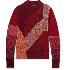 Burberry - Patchwork Ribbed and Cable-Knit Cashmere and Wool-Blend Sweater