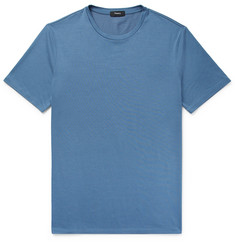 Theory - Clean Silk and Cotton-Blend T-Shirt