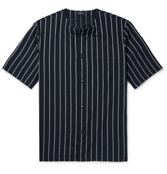 Theory Striped Cotton-Blend Shirt