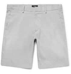 Theory Stretch Linen and Cotton-Blend Shorts