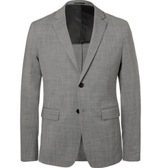 Theory Grey Slim-Fit Wool-Blend Blazer